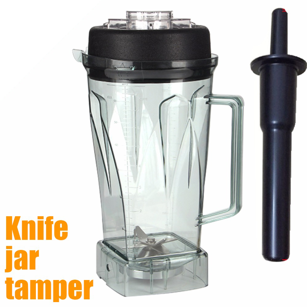 High Quality Blade Jar Container And Tamper For Jtc Blender 010 767 800 G5200 G2001 For Vitamix Blender Parts Free Shipping