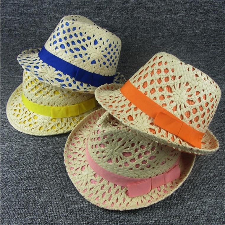Modo di estate di Fedora della Paglia Cappelli Per Le Donne Piccolo Brim  Sun Beach Caps Chapeu Jazz Trasporto Libero ELDS-021 336da307bfba