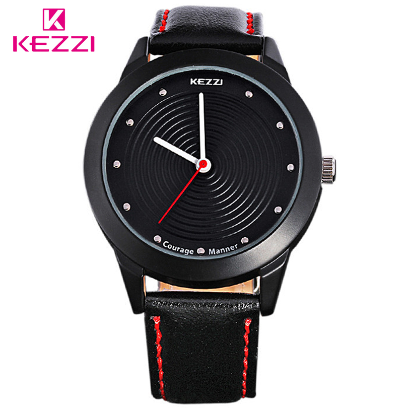 KEZZI Luxury Brand Men Quartz Watches Men's Casual Leather Strap WristWatch Student Fashion Watch Male Clock Relogio Masculino 2017 men xinge brand business simple quartz watches luxury casual leather strap clock dress male vintage style watch xg1087