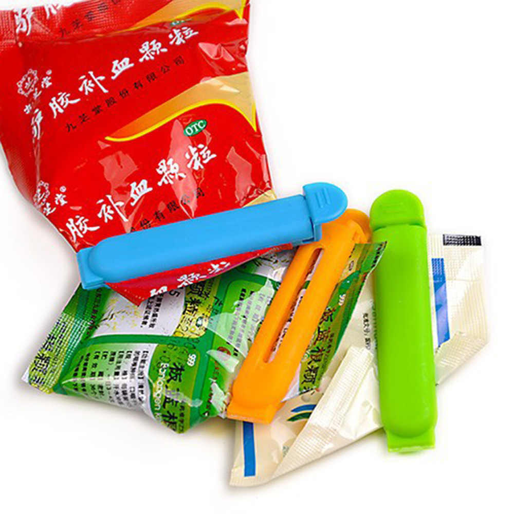 5PCS/Set Food Medicine Sealing Bag Clips Food Snack Sealer Plastic Seal Clamp Home Kitchen Storage Tool