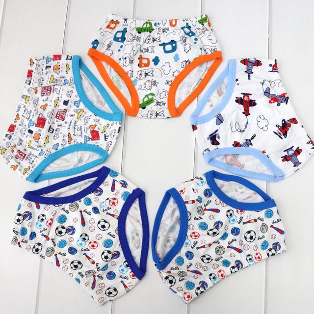 100% Cotton Underwear for Boys, 5 Pcs Set