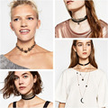 Miwens Fashion Brand za Velvet Choker Necklace Pendant Crystal Statement Collar Women Leather Chain Gothic Chocker Jewelry 7369