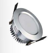 Ceiling Led Spotlight 5W LED Downlight AC85V~265V Silver Body Warm White / Cool White Luminaire