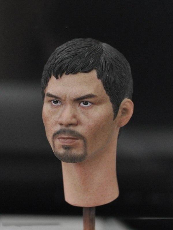 1/6 KM18-14 modèle de tête mâle avec barbe pour corps de 12''