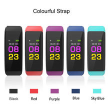 New Kids men women Fitness Folding Portable 0.96inch IPS Color Smart Watch Bracelet Heart Rate Monitor Bluetooth LE 4.0(China)
