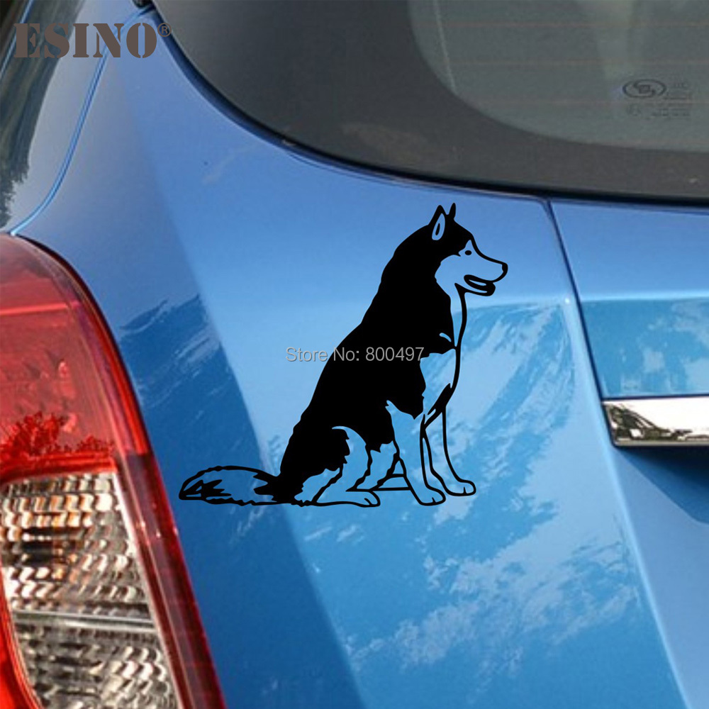 Hot Sale Funny Lovely Pet Dog Husky Creative Auto Decal Cartoon Car
