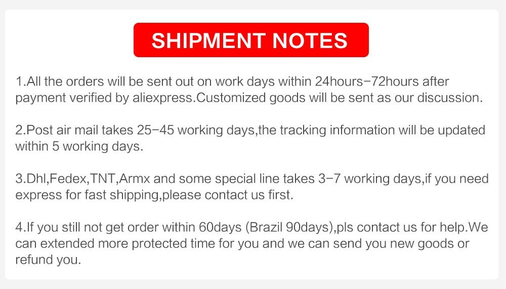 Shipment NOTES (2)