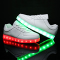7 Colors EUR Size 30-44 Charger tenis led simulation Basket shoes Light Up Kid Boy&Girl Luminous Glowing sneakers children Shoes