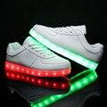 7 colores eur tamaño 30-44 cargador de tenis led simulación cesta shoes light up kid boy & girl luminosa glowing zapatillas niños shoes