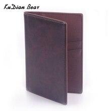 KUDIAN BEAR, Обложка для паспорта, повседневный бизнес-держатель для карт, Мужская Кредитная карточка, держатель для ID, кожаная сумка для карт, BID021 PM