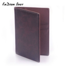 KUDIAN BEAR the Cover of Passport Cover Casual Business Card Holder Men Credit Card ID Holders