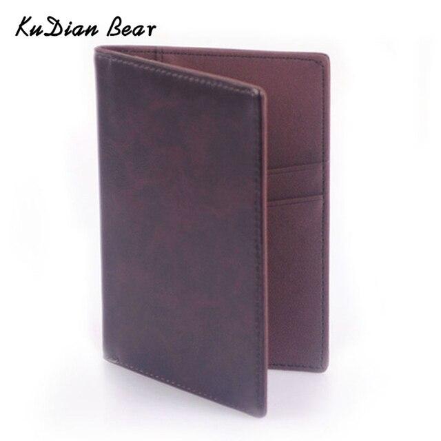 KUDIAN BEAR обложка для паспорта Повседневная Визитница мужская Кредитная карта ID Держатели кожаная сумка для карт BID021 PM