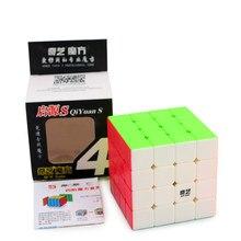 QiYi Yuan S 4×4 кубик рубика магический куб головоломка скоростной куб 4x4x4 Professional speed Cube stickeless Magico обучающая игрушка для детей куб