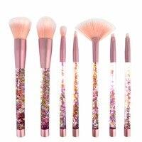 Quality 7pcs Makeup Brushes Set Face Powder Foundation Eyeshadow Brush Transparent Liquid Glitter Unicorn Pincel Maquiagem