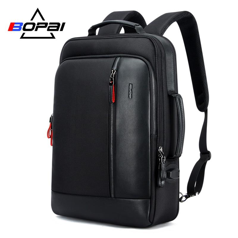 BOPAI Oxford Waterproof Bagpack Travel Backpacks for Men Mochila Capacity Can Be Enlarged Cool Mens Backpacks
