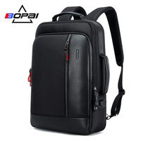 BOPAI Oxford Waterproof Bagpack Travel Backpacks for Men Mochila Capacity Can Be Enlarged Cool Mens Backpacks Shoulder Schoolbag
