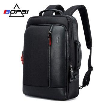 BOPAI Oxford wodoodporny plecak plecaki podróżne dla mężczyzn Mochila pojemność może być powiększony fajne męskie plecaki torba na ramię tornister