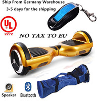 hot sale Bluetooth hoverboard 2 wheel smart 6.5inch mini balance gyroscooter with LED light CE ROHS SGS EMC certication