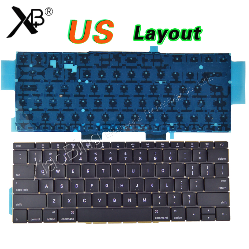 купить New A1708 Keyboard Backlit US Backlight for Macbook Pro 13