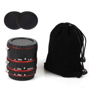 Image 5 - מתכת הר עדשת מתאם פוקוס אוטומטי AF מאקרו Tube הארכת טבעת עבור Canon EOS EF S עדשת 750D 80D 7D T6s 60D 7D 550D 5D סימן IV