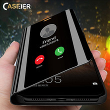CASEIER Luxury Mirror Holder Flip Case For Huawei P20 lite P30 pro Phone for P10 Nova 4 3 Y9 Stand Fundas