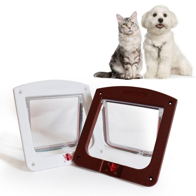 font b Pet b font Cat Puppy Dog Gates Door Lockable Safe Flap Door font