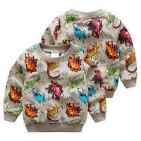 Retail Kids boy Long sleeve t shirt cartoon dinosaur sweatshirt bay 2-7 years Children clothes cartoon Clothing outfit hoodies