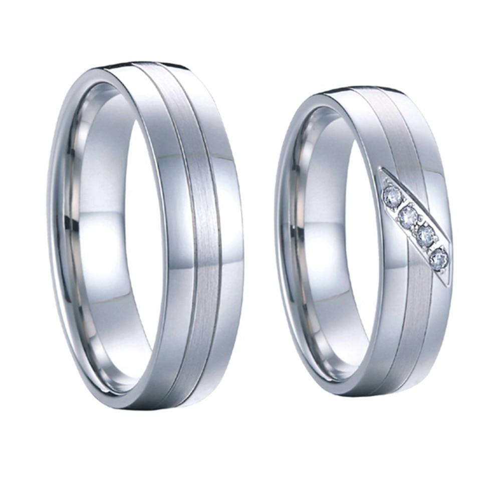 1 para high end handgemacht kunden silber weiß gold farbe hochzeit ringe sets für männer und frauen reine titanium stahl schmuck