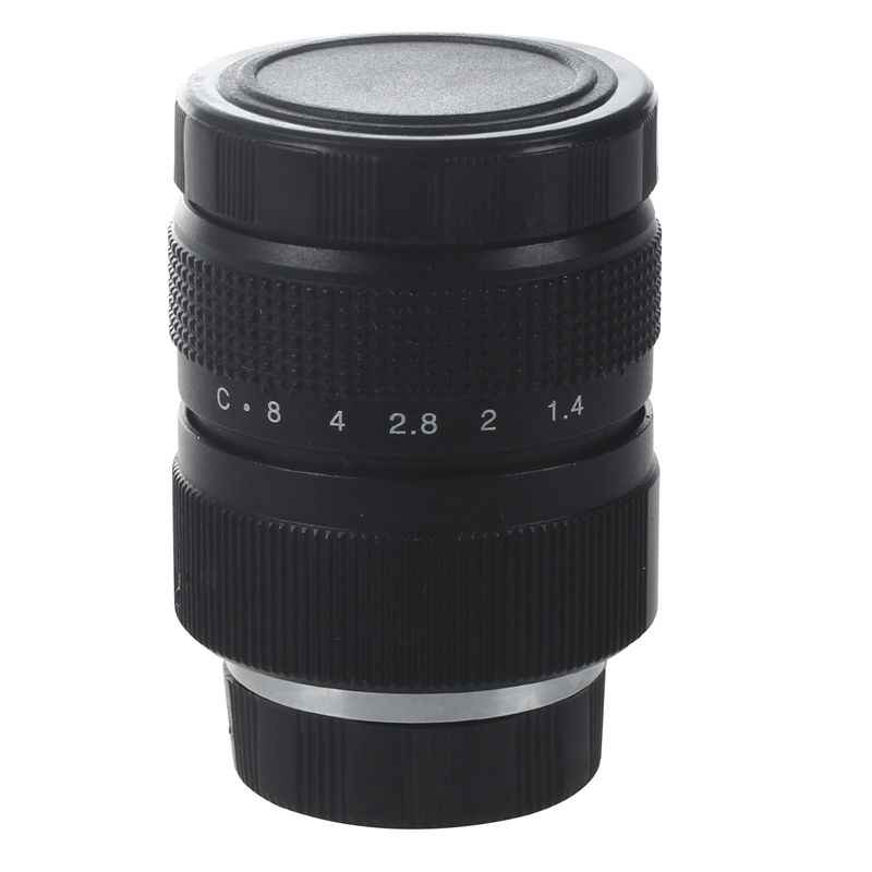 Televisie TV Lens/CCTV Lens voor C Mount Camera 25mm F1.4 in Zwart