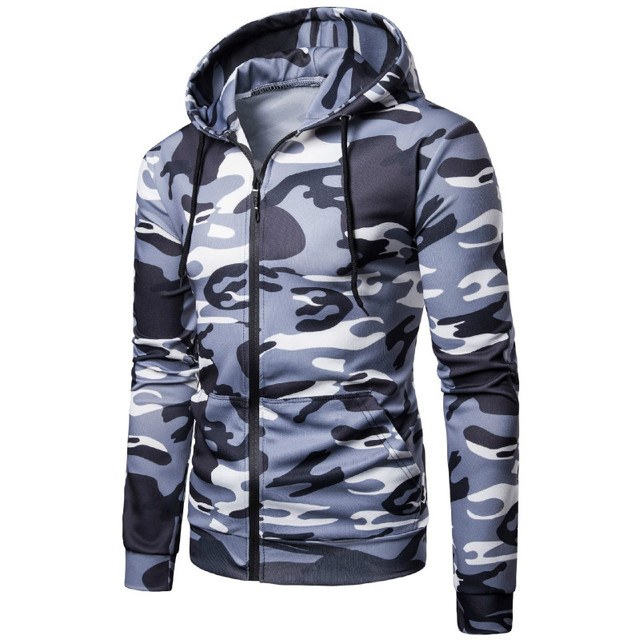 2019 Spring New Hoodies Men Fashion Trend Military Camouflage