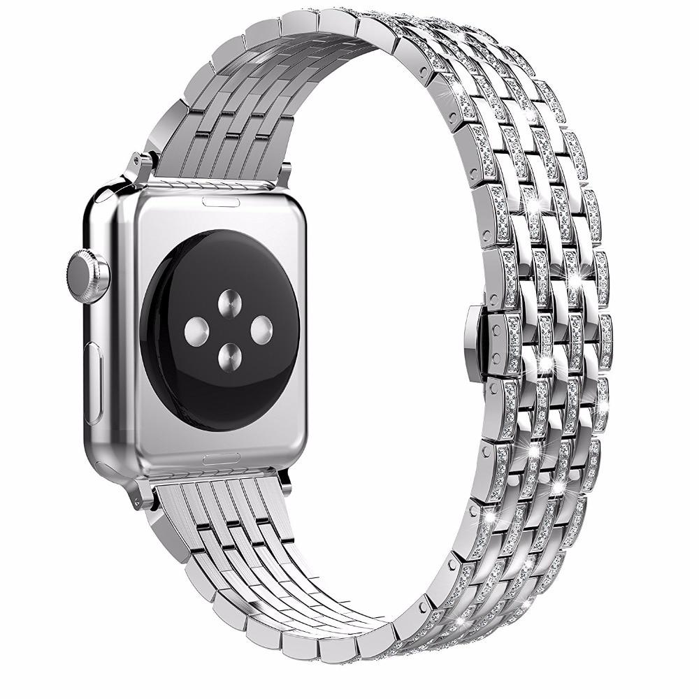 Crystal Rhinestone Diamond WatchBand Luxury Stainless