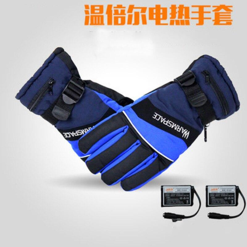 Gants chauffants rechargeables de batterie de Warmspace, doigts réchauffant des gants d'hiver hommes femmes coupe-vent mitaines imperméables tactiques