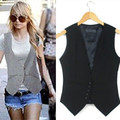 2016 career ladies vest work wear Slim V-Neck jackets for women vest coat 4xl