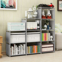 Простая Современная многослойная книжная полка, креативная стойка для хранения, съемная стойка для хранения, подставка для хранения с растительным мусором, Комбинированный Шкаф DIY