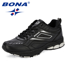 BONA New Classics Style Men Running Shoes cow Split Microfib