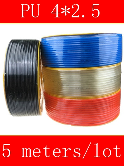 5 Meter Pneumatic Hose PU Tube OD 4MM ID 2.5MM Plastic Flexible Pipe PU4*2.5 Polyurethane Tubing 1meter transparent food grade medical use fda silicone rubber flexible tube hose pipe tubing