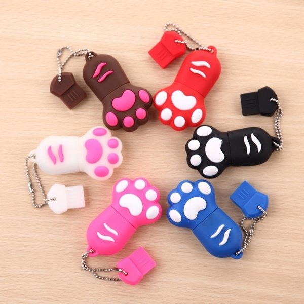 HOT Cartoon Cute Cat Claw 64GB 16GB 32GB font b USB b font Flash Drive 3