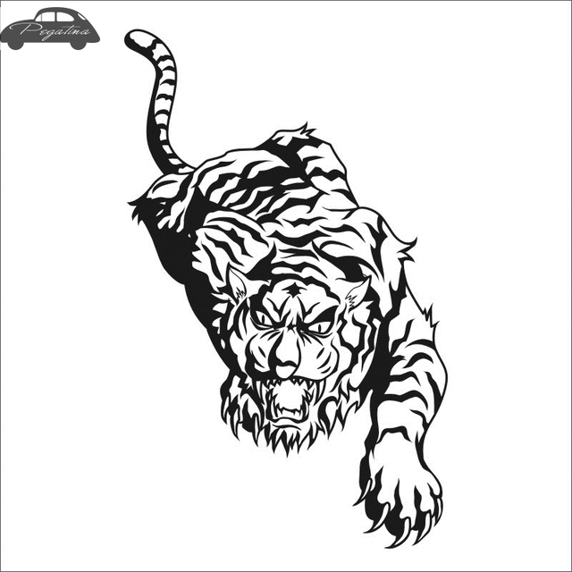 Pegatina Tiger Decal Tigre Car Sticker Car Posters Vinyl Wall Decals