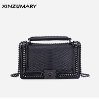 Bags for femal 2019 Leather handbags second layer cowhide snake handbags fashion portable shoulderbag messenger bags crossbody