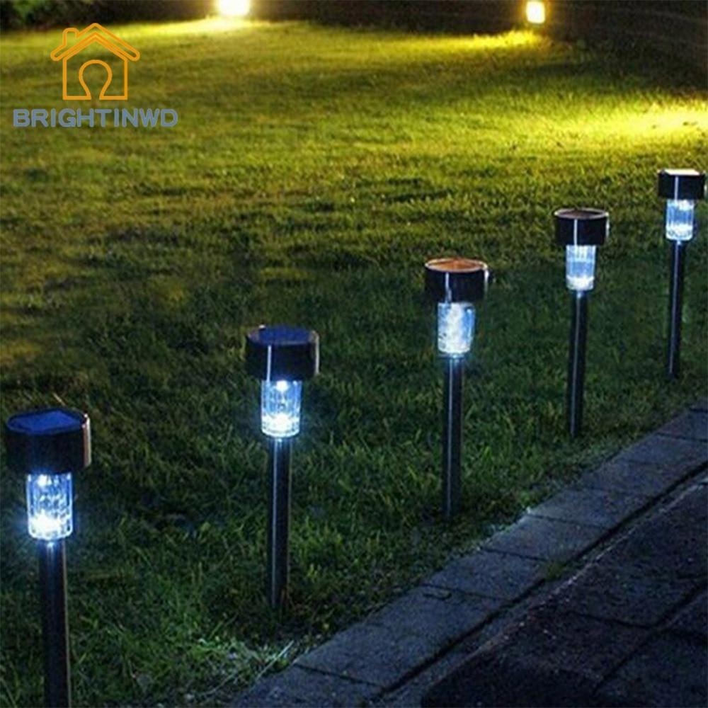 BRIGHTINWD 10pcs Stainless Steel Lampada Solar Para Jardim Lights ...