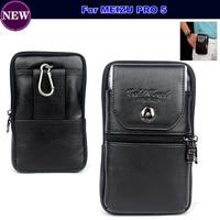 Phone Bag Case Leather Belt Clip Pouch Waist Purse Case Cover For MEIZU PRO 5