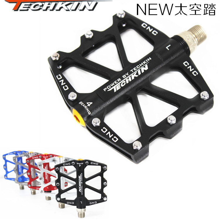 The 10318 foot mountain bike NEW space vehicle dead fly Aluminum Alloy pedal bicycle pedal pedal bearing bearing 2016 new arrival bike pedal 4 colors board anode mountain bike nylon fiber bearing pedal bicycle anti skid dead fly feet