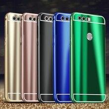 Новый Honor8 модные яркие блестящие Алюминиевый металлический каркас PC задняя крышка Жесткий чехол для Huawei Honor 8