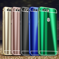 New Honor8 Fashion Cool Bright Shiny Aluminum Metal Frame PC Back Cover Hard Case For Huawei Honor 8