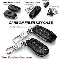 Metal New 2017 Auto Key Case Carbon Fiber Key Case Chain Car Key Case Emblem For