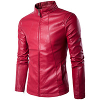 2017 New Autumn And Winter Sales In Europe And America Slim Leather Jacket Size Mens Short