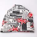 Nación invierno Carta Sombrero Beanie Women Día de La Bandera Británica Knit Skullies 2016 Casquette Gorros De Lana Ganchillo Femenino Mujer Pila Cap