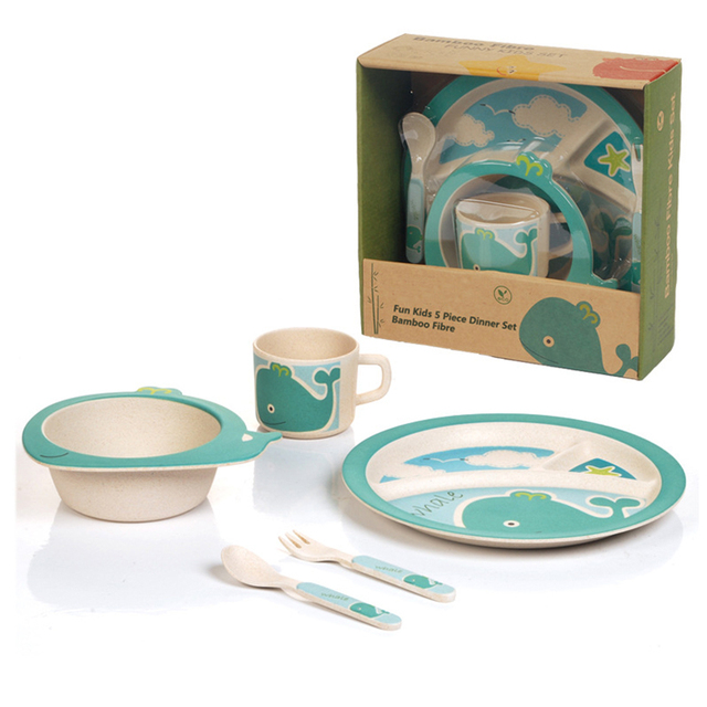 5 pieces Popular Food grade bamboo fiber Kids Dinnerware Set 3 different color and images  sc 1 st  AliExpress.com & 5 pieces Popular Food grade bamboo fiber Kids Dinnerware Set 3 ...