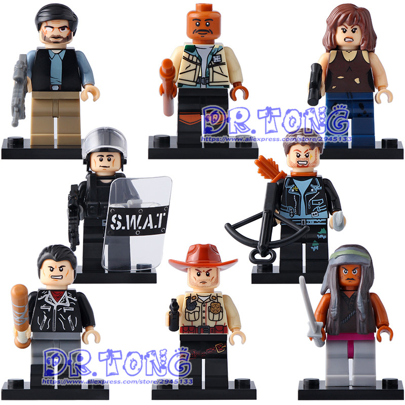 Single Sale Building Blocks Michonne Daryl Dixon Maggie Green Super Heroes The Walking Dead Figures Kids Action Bricks Toy X0156