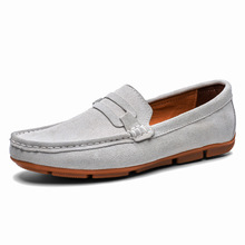 Casual Leather Loafer Shoes Men Soft Comfortable Driving Moccasins Footwear Mokasin Kasual 5#24D50